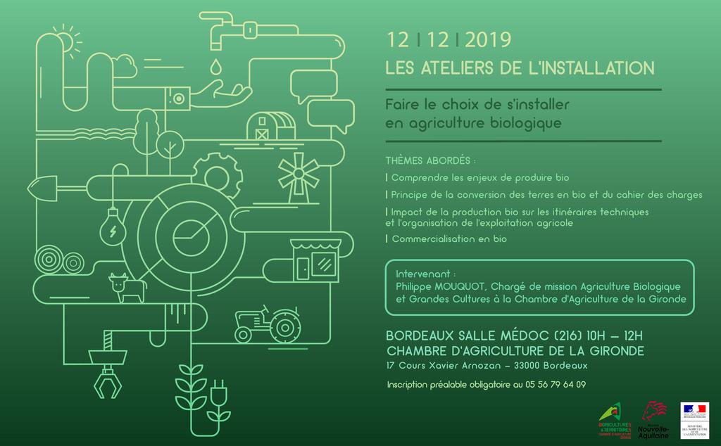 Atelier de l 39 installation s 39 intaller en agriculture - Chambre agriculture gironde ...