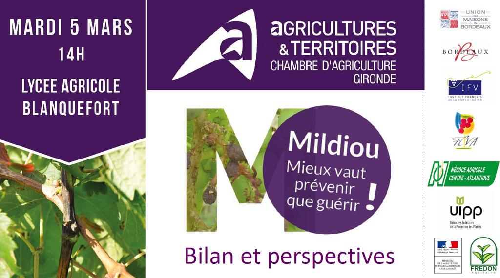 Retour sur la r union mildiou du 5 mars chambre d - Chambre agriculture gironde ...